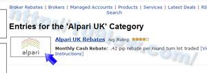 Alpari UKのロゴ画像をクリックする