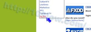 FxProのリンクをクリックする