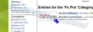 FxProのロゴ画像をクリックする