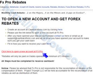 FxProをCashBackForexに登録する為の必要事項