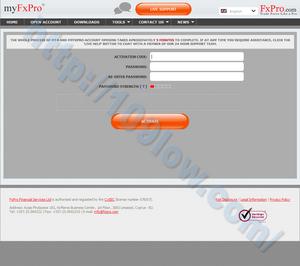 FxPro.comのアクチベーションを行う