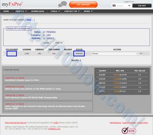 FxProのマイページにログイン