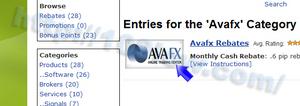 AVA FXのロゴ画像をクリックする
