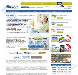 AVA FXの口座登録画面を日本語表記に変更