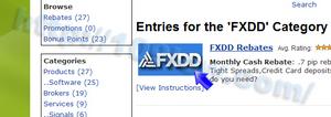 FXDDのロゴ画像をクリックする