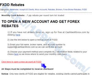 FXDDをCashBackForexに登録する為の必要事項