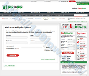 Register with Pipthepip