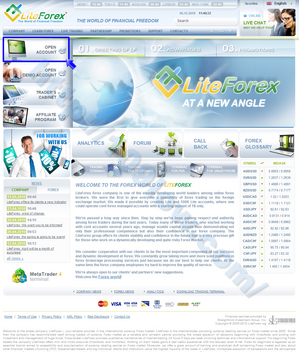 LiteForexトップページのOPEN ACCOUNTをクリックする