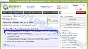LiteForexの登録時にCBFへログインしていない場合の文章