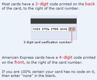 ClickBankで使うクレジットカードの認証番号