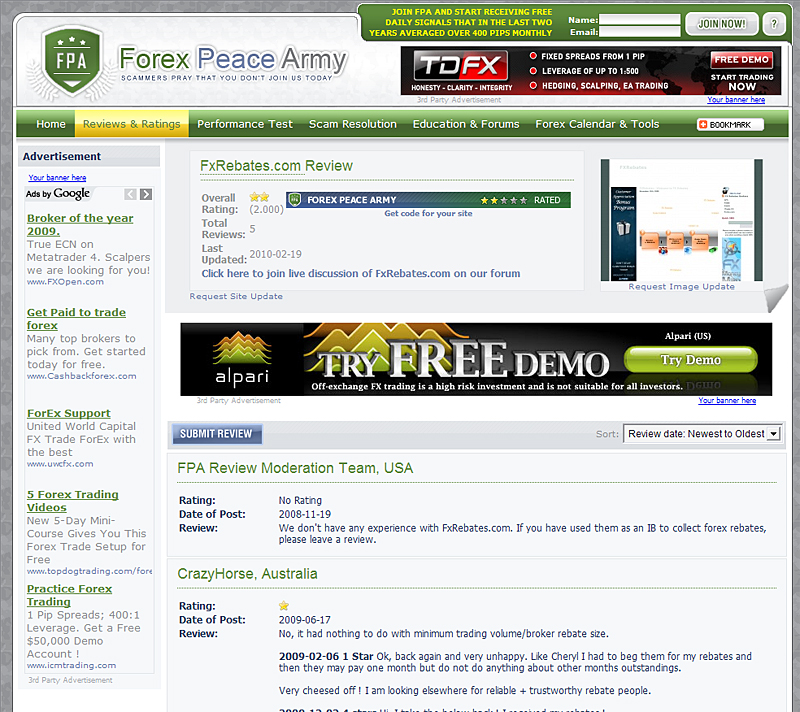 binary options forex peace army scam